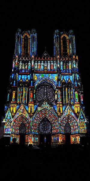 Rêve de couleurs - Cathédrale de Reims